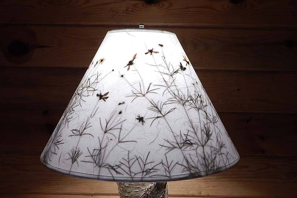 handmade lamps shades with leaves botanical accents. Black Bedroom Furniture Sets. Home Design Ideas