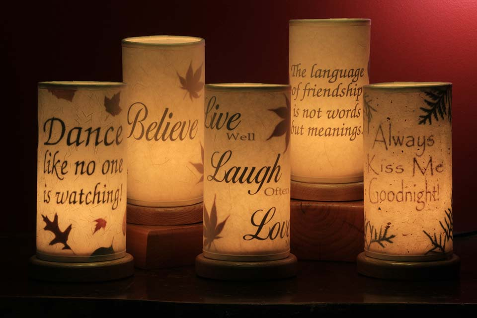 Custom Accent Lights with Your Favorite Quote