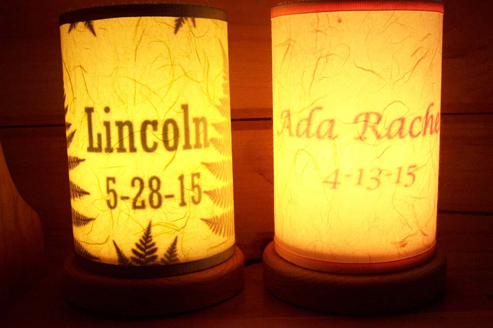Handmade Accent Lights as New Baby Gifts