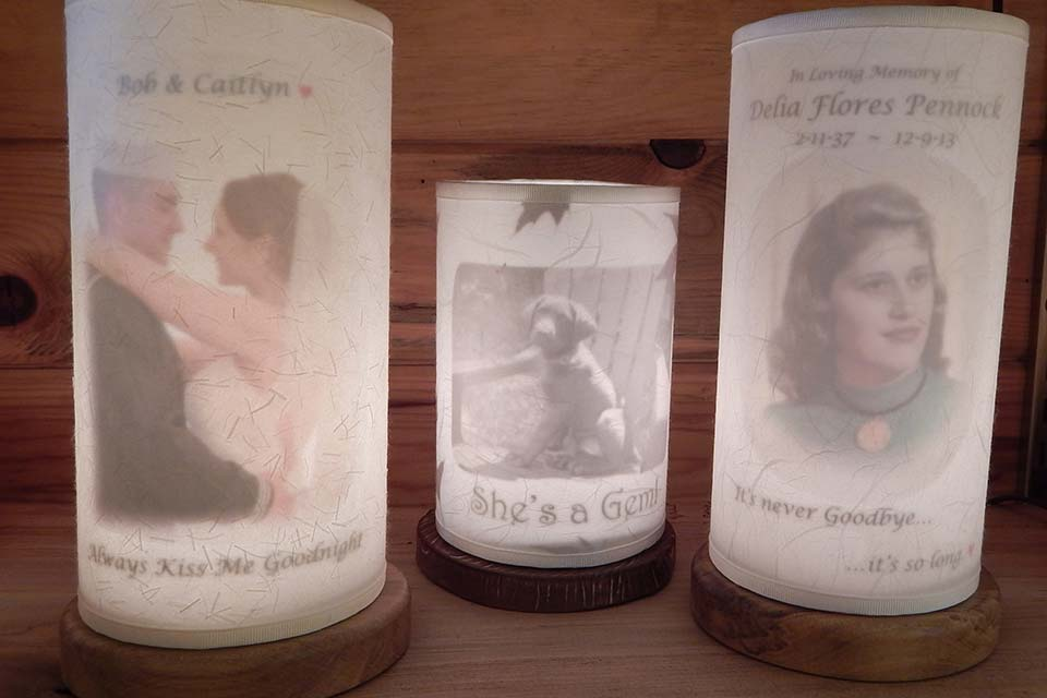 Custom Accent Lights made with Personal Photos and Quotes