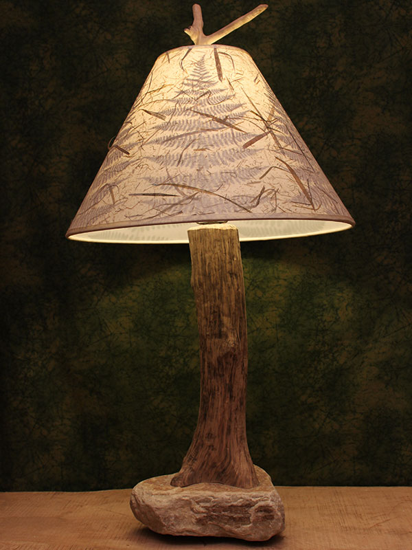 Custom lighting for nature lovers handmade in the adirondacks taking their name from pauls contracting business wooden stone construction our most popular custom lamps are those that we categorize as wooden stone aloadofball Image collections