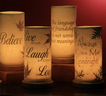 handmade botanical lamps lamp shades with leaves northeast living