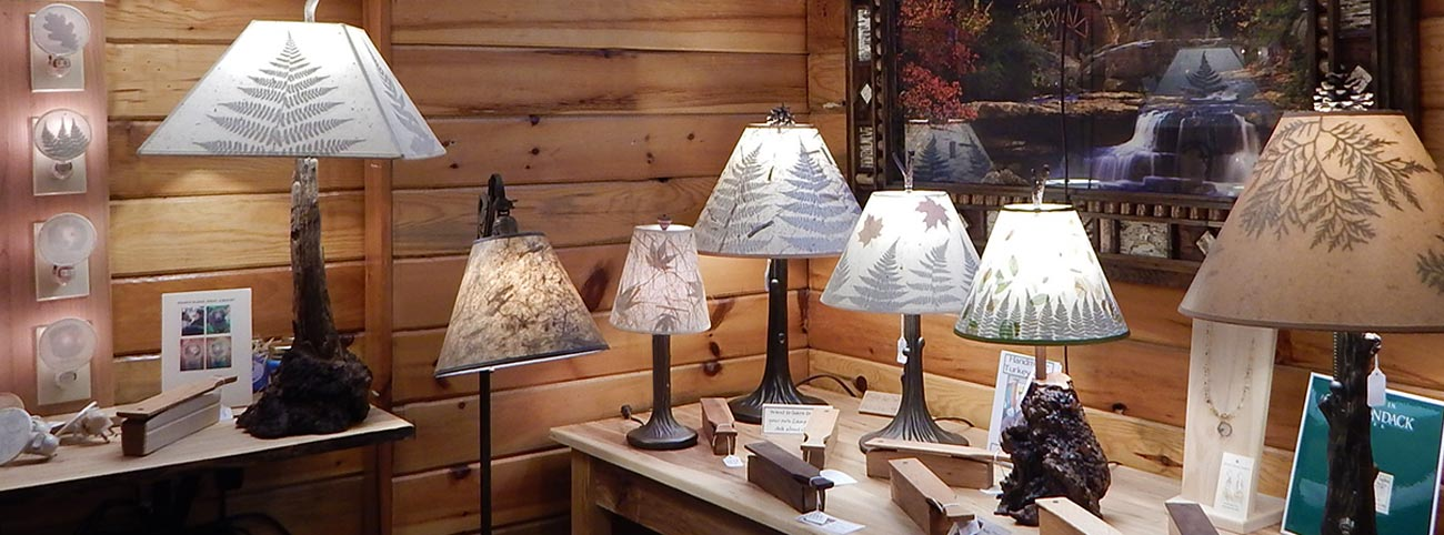 Handmade botanical lamps lamp shades with leaves northeast living homemade adirondack lamps and shades aloadofball Gallery