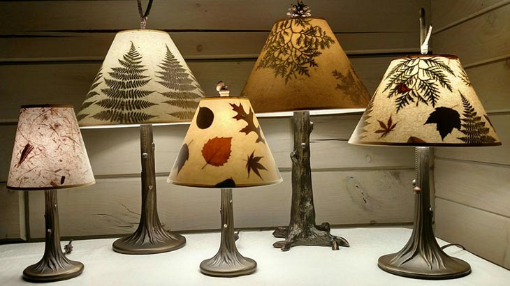 Handmade Botanical Lamps Amp Lamp Shades With Leaves