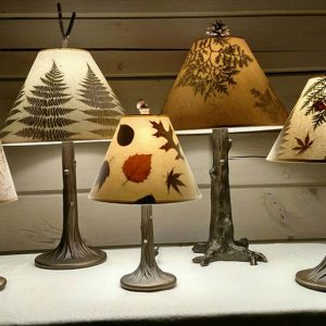 Hand Crafted Lamp Shades with Real Botanicals