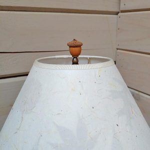 Acorn finial on lamp shade