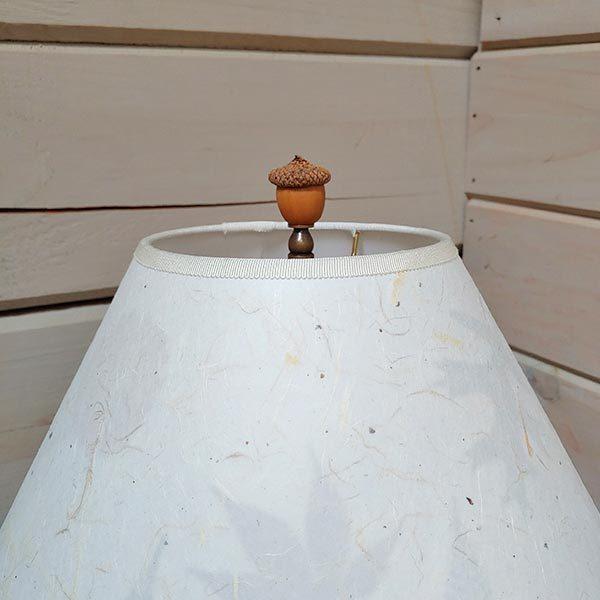 Acorn finial on lamp shade