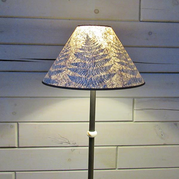 lamp shade with pine needles