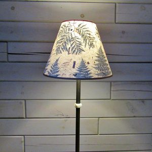 lampshade with ferns